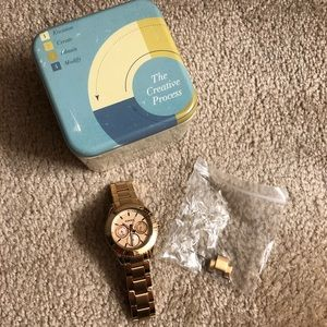 Women's Gold Fossil Watch